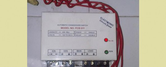 AUTOMATIC CHANGEOVER SWITCH FOR GENERATOR IN NIGERIA